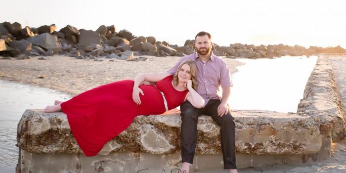 Evening Maternity Session | Coronado Beach Photographer | Newport Rhode Island Photographer