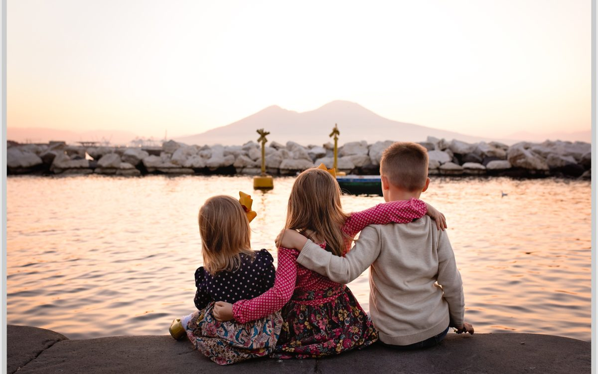 Sunrise Family Session | Naples Italy | Plebiscito Square | Sarah Peterson Photography
