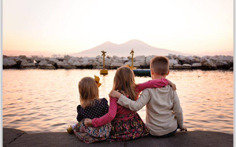 Sunrise Family Session | Naples Italy | Plebiscito Square | Sarah Peterson Photography